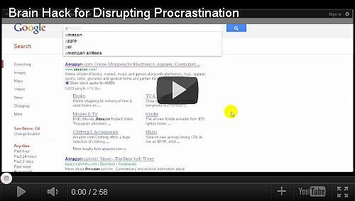 Brain Hack for Disrupting Procrastination
