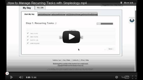 Manage Recurring Tasks in Simpleology to get more done faster