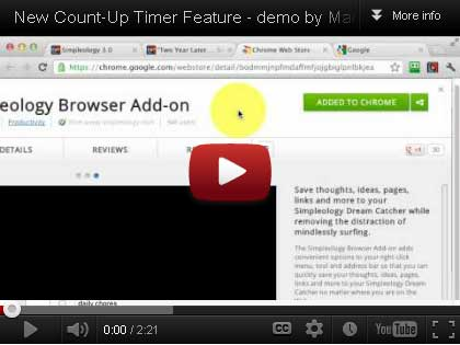 click here to watch video for how to activate and use the new count-up timer